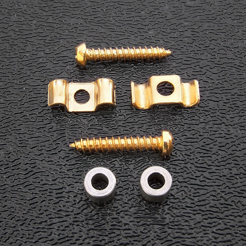 001-8803-049 - Genuine Fender Vintage Strat Gold String Guides