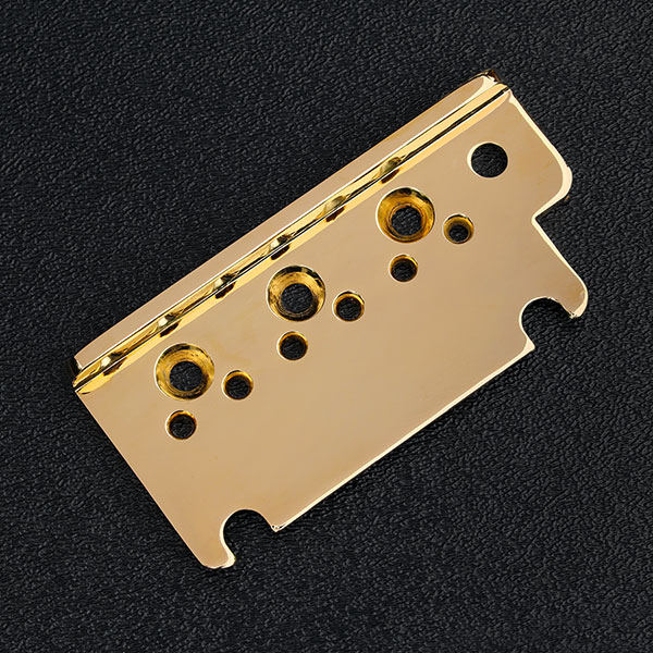 004-9740-000 0049740000 Genuine Fender Left Hand American Standard Strat Gold Bridge Top Plate (1986-2007)