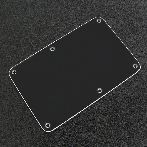 005-4115-002 - Genuine Fender Stratocaster Black 3 Ply Tremolo Cover Back Plate