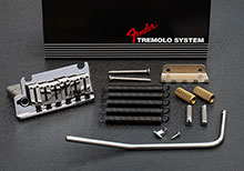 005-5318-049 - Genuine Fender American Deluxe Strat Left Handed Tremolo Bridge Assembly, Chrom