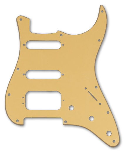 006-4010-000 Fender Stratocaster Gold Metallic 1 Ply HSS Pickguard