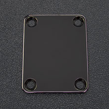 008-0191-000 - Fender Black Nickel 4-Bolt Neck Plate