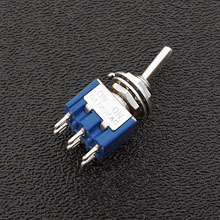 060-516 - DPDT On/On Mini-Toggle Switch, 15/64'' Mounting