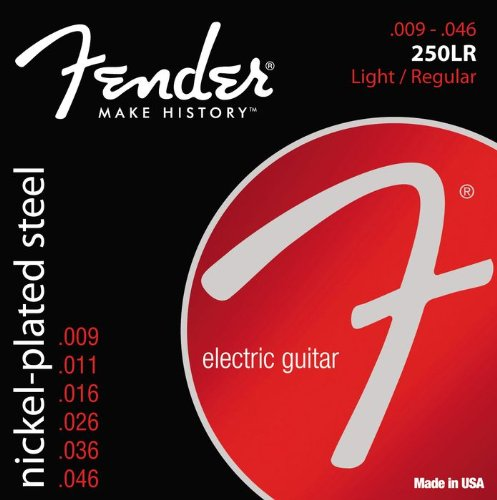 073-0250-404 - Fender 250LR Nickel Plated Steel Ball End Light/Regular Electric Guitar Strings
