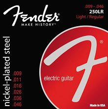073-0250-404 - Fender 250LR Nickel Plated Steel Light/Regular Electric Guitar Strings
