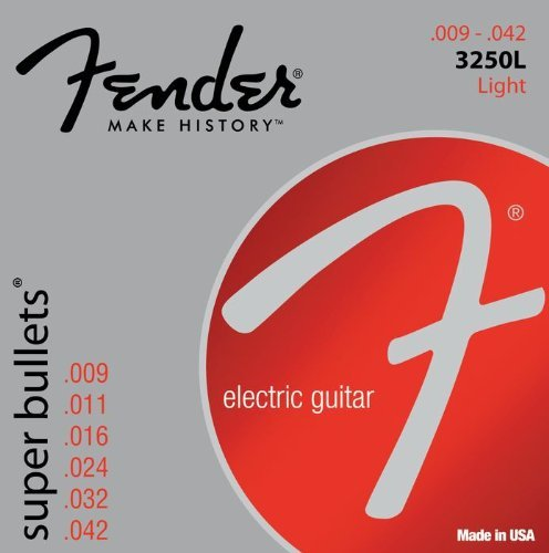 073-3250-403 - Fender 3250L Super Bullets Nickel Plated Steel Light Electric Guitar Strings
