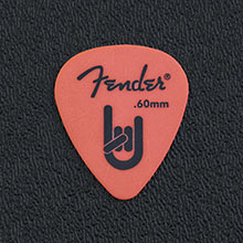 098-7351-751 - Fender 351 Rock On Orange Delrin Thin/Medium 0.60mm Package of 12 Picks