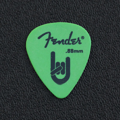 "098-7351-850 - Fender 351 ""Rock On"" Green Delrin Medium/Heavy 0.88mm Package of 12 Picks"