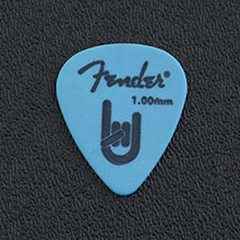 098-7351-900 - Fender 351 Rock On Blue Delrin Heavy 1.0mm Package of 12 Picks