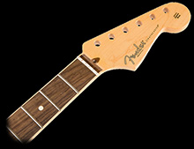 099-0214-921 - Fender USA Stratocaster Channel Bound Rosewood Neck Compound Radius 9.5'' to 14'' 21 Frets