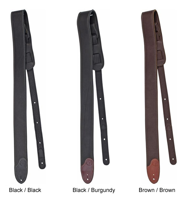 "099-0668-001, 099-0668-002, 099-0668-003 Genuine Fender 2"" Custom HQ Leather Guitar Strap"