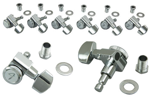 099-0818-100 Genuine Fender Chrome Locking Tuners