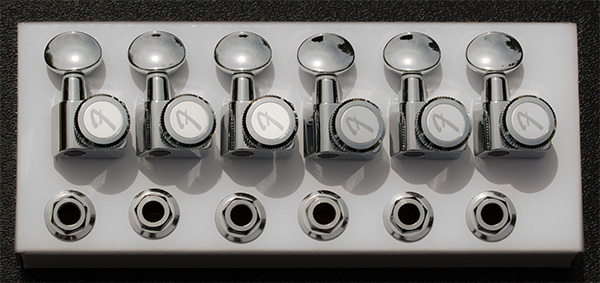 099-0818-500 0990818500 - Fender F Series Chrome Locking Tuners With Vintage Style Oval Buttons