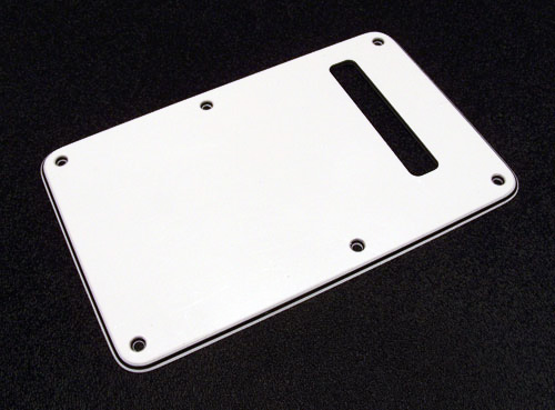 099-1321-000 Genuine Fender Stratocaster White 3 Ply Strat Back Plate