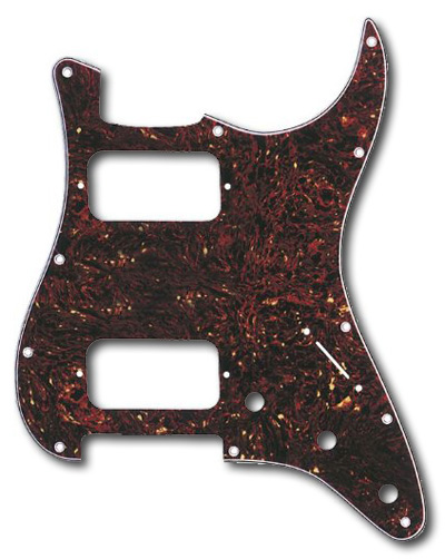 099-1372-000 Big Apple HH Stratocaster Tortoise Shell 4 Ply Pickguard