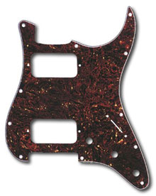 099-1372-000 - Genuine Fender (Big Apple) HH Stratocaster Tortoise Shell 4 Ply 11 Hole Pickguard