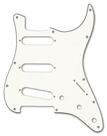 099-1374-000 - Fender Stratocaster Parchment 3 Ply Standard 11 Hole Pickguard