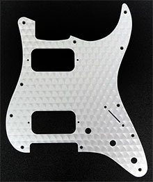 099-1382-000 - Genuine Fender Engine Turned Aluminum, Clear, HH Stratocaster 1 Ply 11 Hole Pickguard