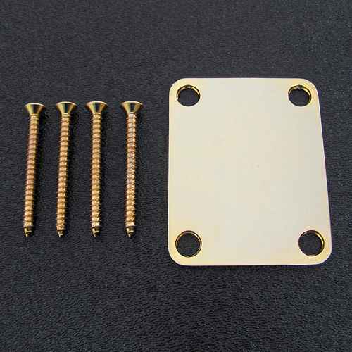099-1447-200 Genuine Fender Vintage Style Gold Neck Plate