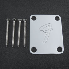"099-1448-100 Fender 70's ""F"" Logo 4-Bolt Neck Plate"