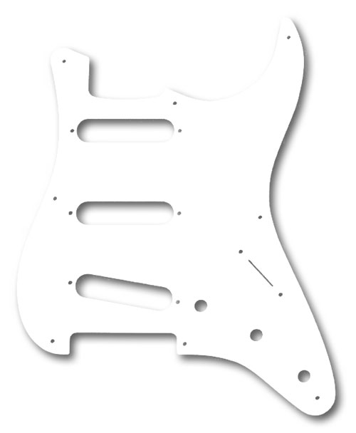 099-2017-000 Genuine Fender '57 Stratocaster White 1 Ply 8 Hole Pickguard