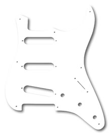 099-2017-000 - Fender '57 Stratocaster White 1 Ply 8 Hole Pickguard