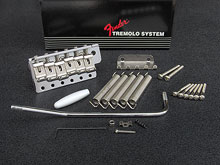 099-2049-002 Genuine Fender USA '62 Reissue Vintage Tremolo Bridge Assembly Chrome, Left Handed