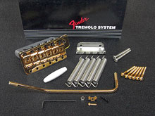099-2049-202 Genuine Fender USA '62 Reissue Vintage Tremolo Bridge Assembly Gold - LEFT Handed