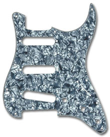 099-2141-000 - Fender Stratocaster Black Pearl 4 Ply Standard 11 Hole Pickguard