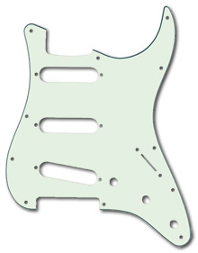 099-2144-000 - Fender Stratocaster Mint Green 3 Ply Standard 11 Hole Pickguard