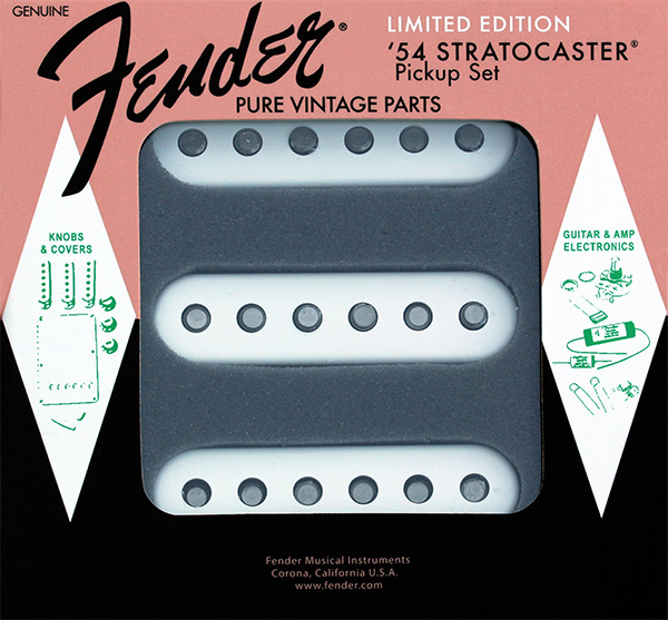 099-2244-000 Genuine Fender Stratocaster Pure Vintage Limited Edition 60'th Anniversay 1954 Pickup Set