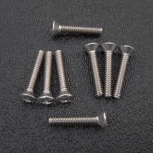 Stainless Steel Phillips Oval Head Pickup Mounting Screws, #6-32 x 3/4''