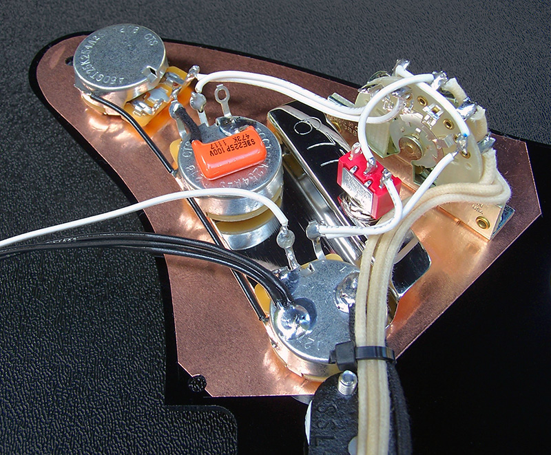 Unusual Strat Style Guitar Huge Ibanez Wiring Flat Dragonfire Pickups Wiring Diagram Les Paul 3 Pickup Wiring Youthful Dimarzio Color Code DarkCar Alarm Installation Instructions Custom Built Gilmour Style Complete Black Strat Pickguard Assembly ..