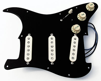 Gilmour Inspired Loaded Black Strat Pickguards
