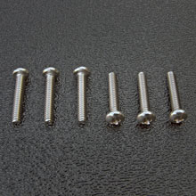 Stainless Steel American Stratocaster Intonation Screw Set, Phillips Pan Head #4-40 x 5/8''