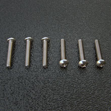 Stainless Steel American Stratocaster Intonation Screw Set, Phillips Round Head #4-40 x 5/8''