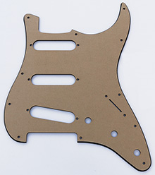 "Black 1 Ply 0.120"" Acrylic Pickguard with Rounded Edge"