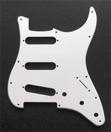 White 1 Ply 0.120'' Acrylic Pickguard with Rounded and Polished Edge