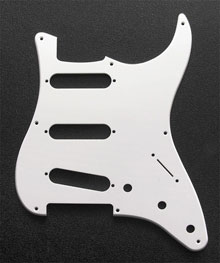 White 1 Ply 0.120'' Acrylic Pickguard with Rounded and Polished Edge 8 Hole
