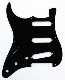 "Black 1 Ply 0.120"" Acrylic Pickguard with Rounded and Polished Edge"