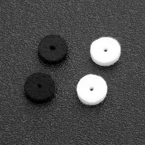 Strap Button Black or White Felt Washers