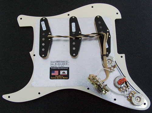 Complete and Fully Loaded Strat Pickguard Assembly Fender Tex-Mex Pickup Set