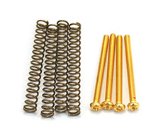 GS-0012-002 - Gold Humbucking Pickup Mounting Screws and Springs Set of 4, #3-48 x 1-3/16''