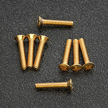 GS-0064-B02 - Gold Plated Phillips Oval Head Pickup and Selector Switch Mounting Screws, #6-32 x 3/4""