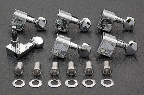 KCDF-3805CL - Kluson Direct Fit Contemporary Chrome Tuners For American Series Strat