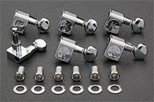 KCDF-3805CL - Kluson Contemporary Chrome Tuners For American Series Strat