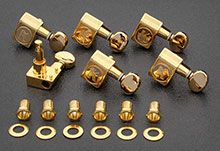 KCDF-3805GL - Kluson Contemporary Chrome Tuners For American Series Strat's