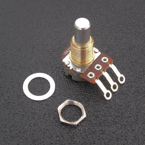 Bourns Solid Shaft 250K Mini (17mm) Potentiometer
