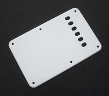 Vintage Style White 1 Ply 0.120'' Acrylic Back Plate With Rounded and Polished Edge