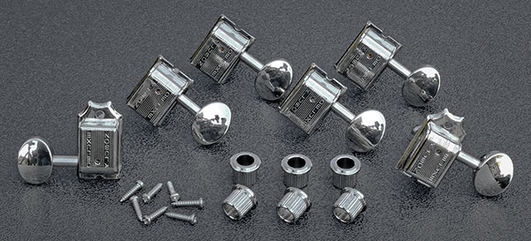 SD9105MN-DR - Kluson 6 In-Line Double Row Vintage Tuning Keys